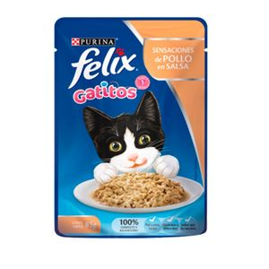 Comida-Humeda-Gatos-Felix-Gatitos-Pollo-en-Salsa-Pouch-85-Gr